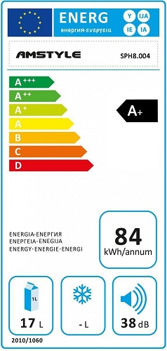 Amstyle Minikühlschrank Energieeffizienz