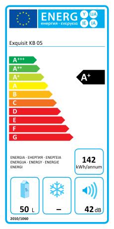 Exquisit KB 05-4 A+ Energieeffizienz
