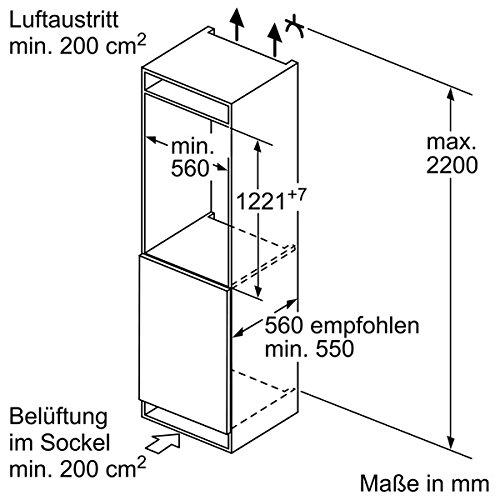 Bosch KIR41AF30 Einbaumaße seitlich