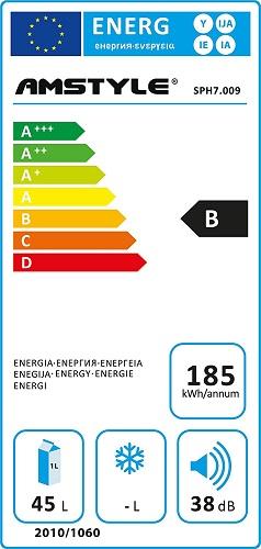 Amstyle SlimLine Energieeffizienz Tabelle