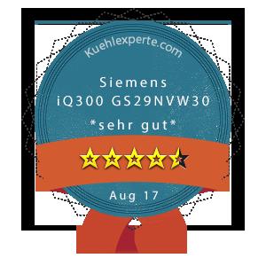 Siemens-iQ300-GS29NVW30-Wertung