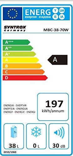 Syntrox Germany 38 Liter Energieeffizienz