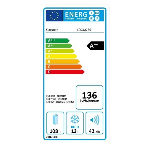 Klarstein PopArt Energielabel