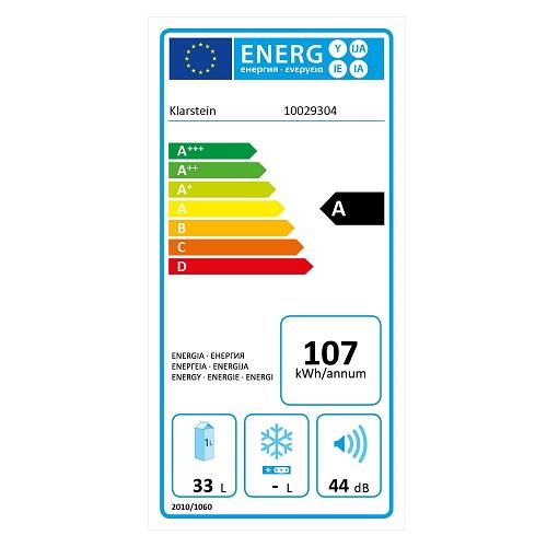 Klarstein Reserva 12 Uno Energieeffizienz